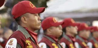 Efectivos de la Guardia del Pueblo preparados para salir a las calles como parte de la misión Patria Segura. (FOTO www.minci.gob.ve)