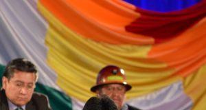 Evo Morales, durante un discurso en Cochabamba. / JORGE ABREGO (EFE)